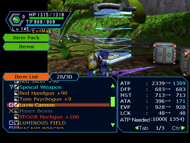 """Lower Case """"Patch"""" for Weapon Names! 2.1 Released! For Armors Pso2011-03-0120-54-48-25"""