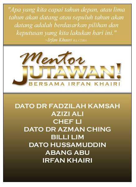 Mentor Jutawan Bersama Irfan Khairi MentorJutawanFacebook