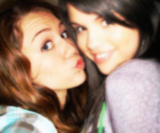 Selena Gomez and Miley Cyrus Pictures, Images and Photos