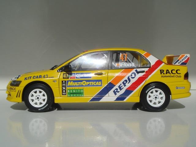Mitsubishi Evo7 Gp N, Xavier Pons, Rally Mexico 2004, 1/18 DSC08849