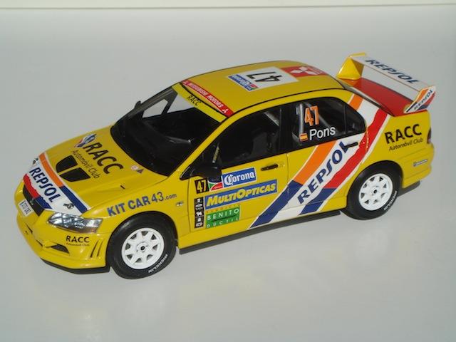 Mitsubishi Evo7 Gp N, Xavier Pons, Rally Mexico 2004, 1/18 DSC08853