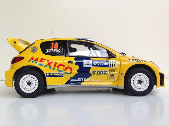 1/18, AA Peugeot 206 WRC, 2005 Mexico Rally, Ricardo Trivino IMG_0414_zps15069a9f