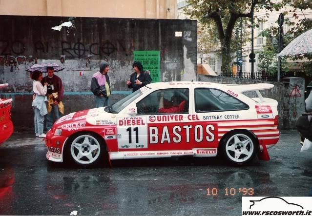 Ford Escort Cosworth, 1994 Ypres Rally, Patrick Snijers Bastos