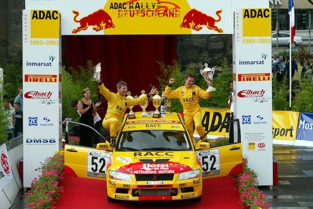 Mitsubishi Evo7 Gp N, Dani Sola, Rally Deutschland 2003, 1/18 AA L3_2_zps0407e567