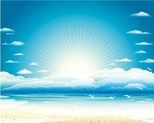 Reflexiones de esperanza - La esperanza de una vida mejor Sky-beach-vector