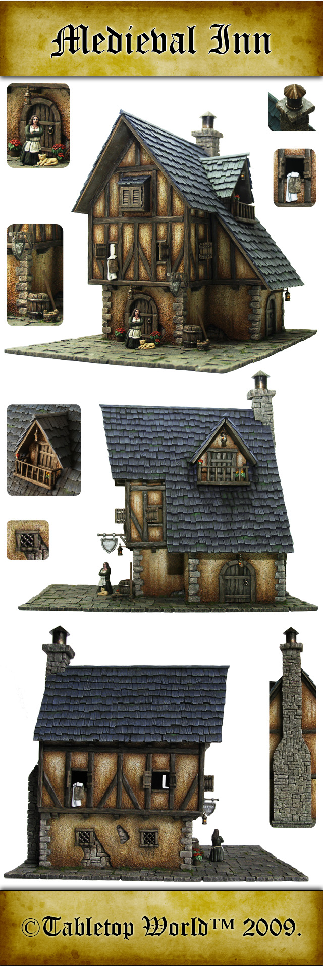 Tabletop Scenery MedievalInn-1