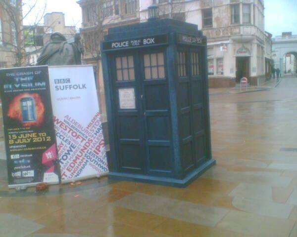 Guess Who's Materialized in Ipswich? Tardis