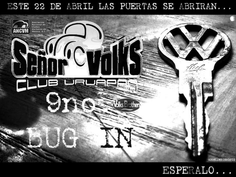 9no. BUG IN SEÑOR VOLKS CLUB URUAPAN... CARTEL2012I