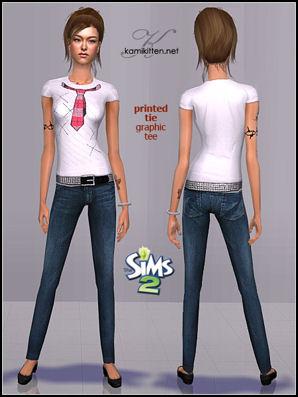 The Sims Café - Portal Kamikitten_afCasual_printedtee_thumb