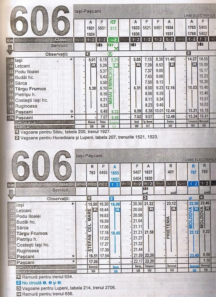 606 : Iaşi - Paşcani 606a