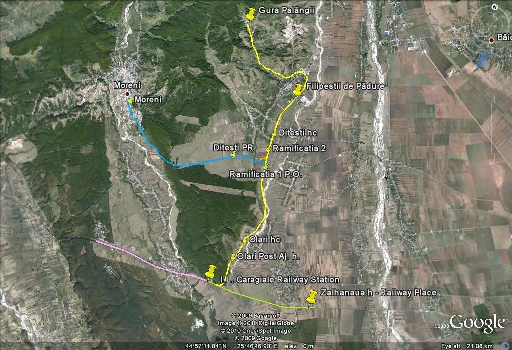 303 : I. L. Caragiale-Moreni, -Filipeşti de Pădure - Gura Palăngii Caragiale-Moreni-Filipesti