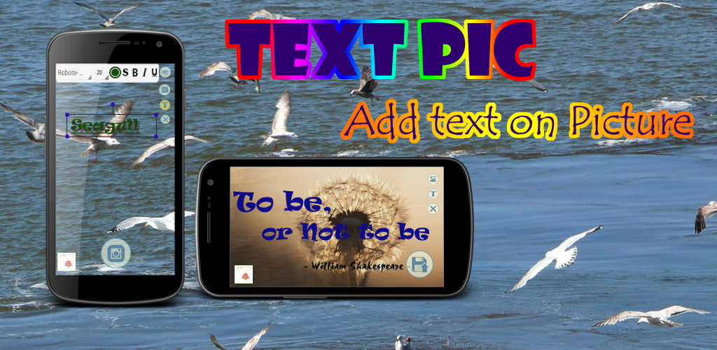 Aplikace Text Pic - Add text on Picture Feature_en