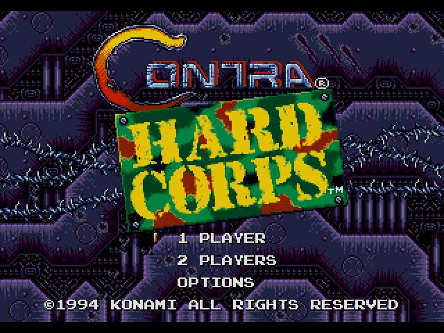 Test Genesis : Contra Hard Corps. Contra-HardCorps002