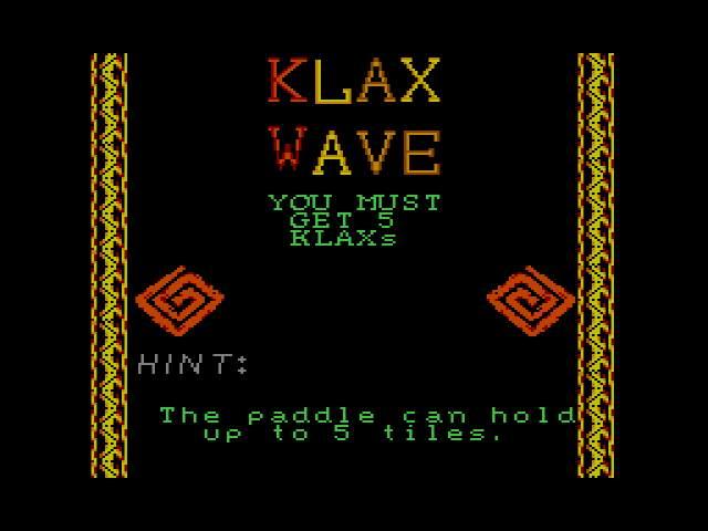 Test : Klax Klax010
