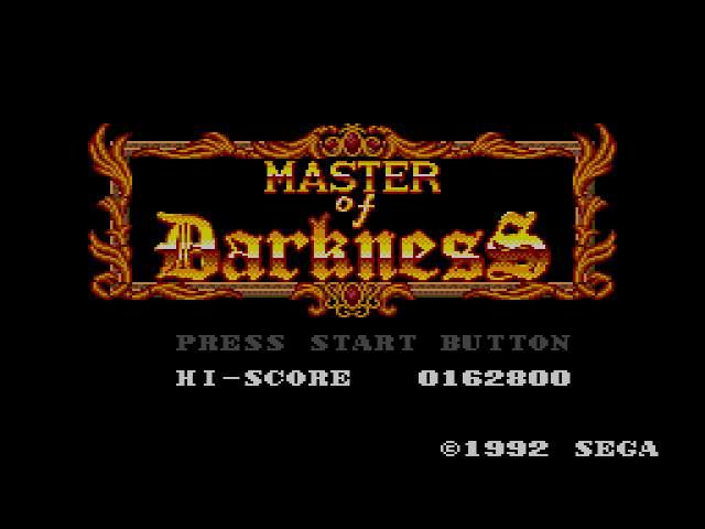 Test : Master of  Darkness MasterofDarknessUE030