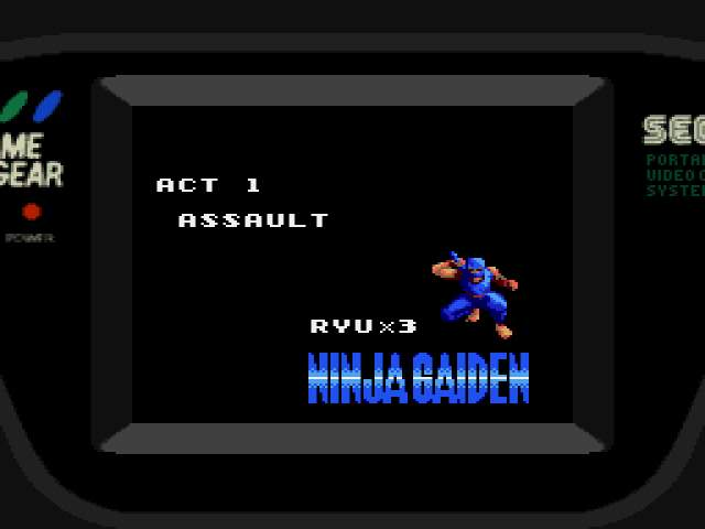 Test : Ninja Gaiden Game Gear NinjaGaiden002
