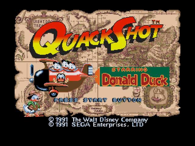 Test Megadrive : Quackshot QuackShotStarringDonaldDuck001