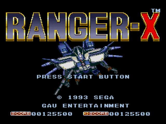 Test Megadrive : Ranger-X Ranger-X004