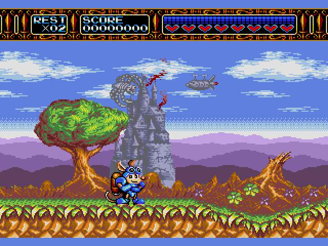 Test Megadrive : Rocket Knight RocketKnightAdventuresU005