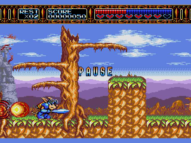 Test Megadrive : Rocket Knight RocketKnightAdventuresU007