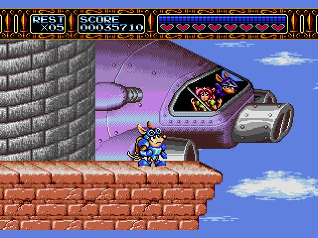 Test Megadrive : Rocket Knight RocketKnightAdventuresU017