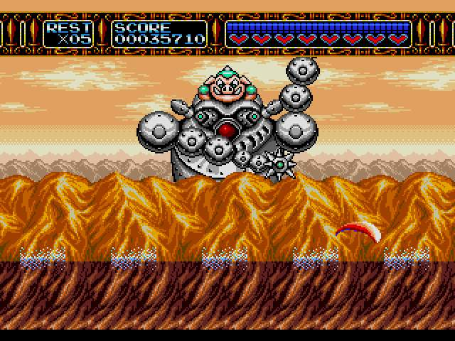 Test Megadrive : Rocket Knight RocketKnightAdventuresU018