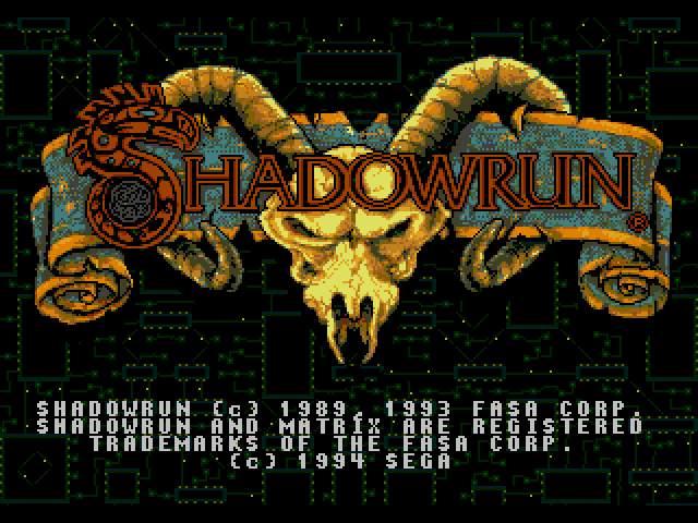 Test Megadrive : Shadowrun SHADORUN009