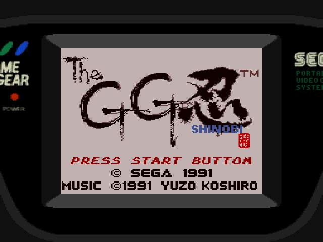 Test GameGear : Shinobi SHINOBI001