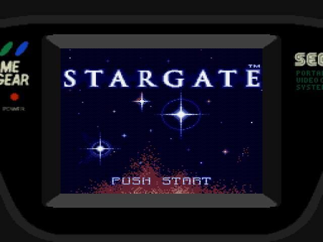 Test GameGear : Stargate StargateUE000