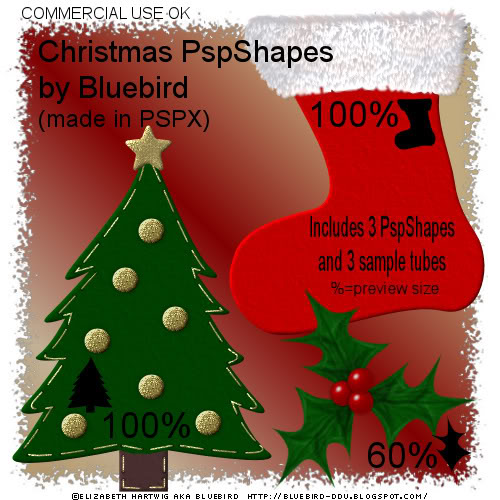 PSP Christmas Shaped - By: Bluebird's Blog Xmasshapespreview