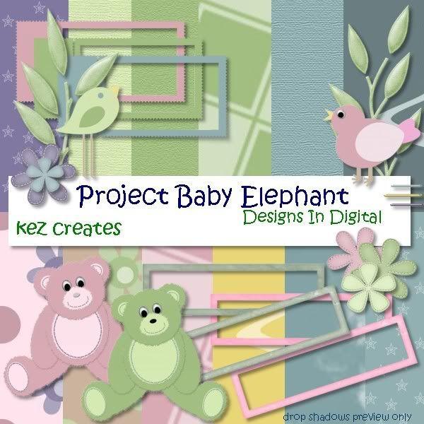 Finished Kit Previews Kezcreates_BabyElephant_preview-000