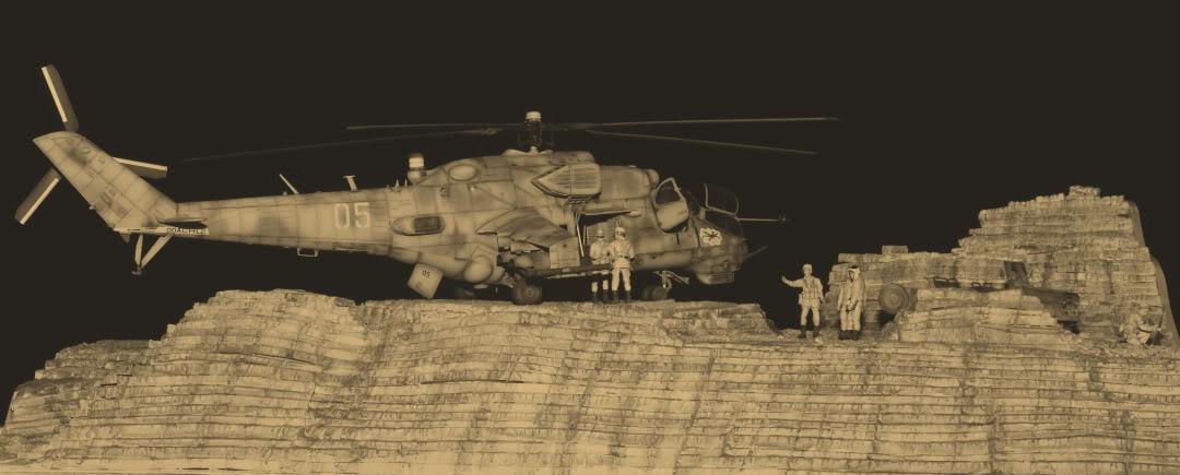 Mi-24V 1/35 Trumpeter 1UAZ469azn