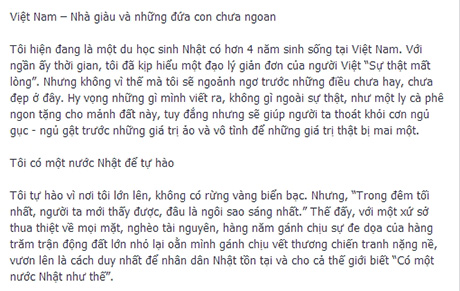 """Cư dân mạng """"dậy sóng"""" với tâm thư của người Nhật gửi Việt Nam TT_zps784f8b8b"""