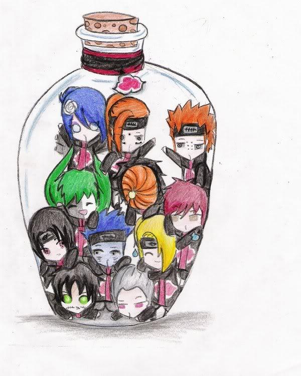 Organización Akatsuki Botella