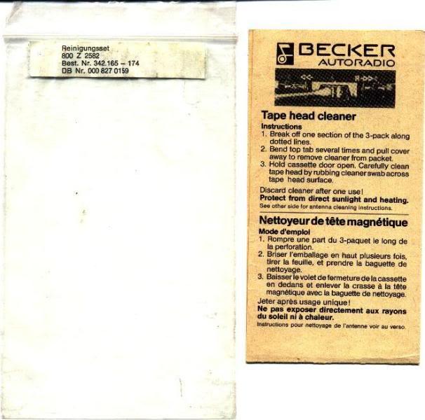 Garantia e assistência técnica rádio Becker 610 e antena elétrica Hirschmannn Beckerheadcleaner