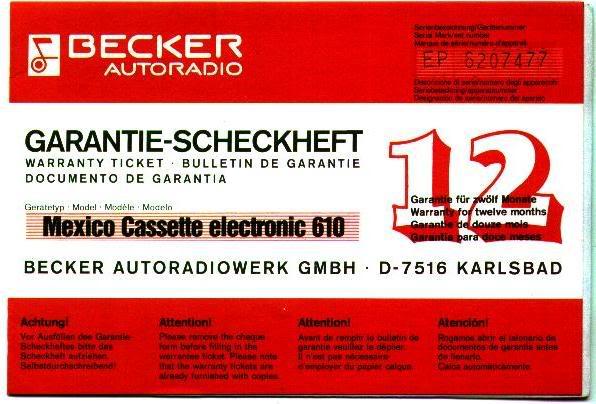 Garantia e assistência técnica rádio Becker 610 e antena elétrica Hirschmannn Garantiaradio1