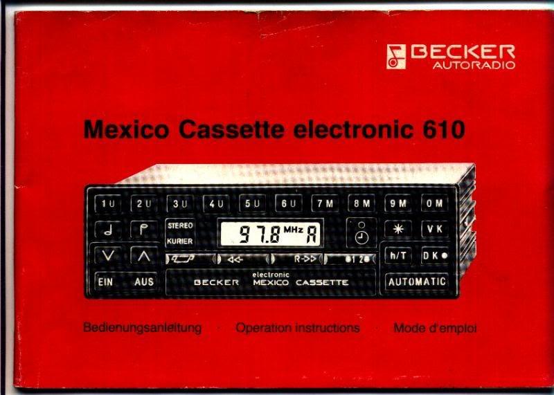 Garantia e assistência técnica rádio Becker 610 e antena elétrica Hirschmannn Manualbecker1