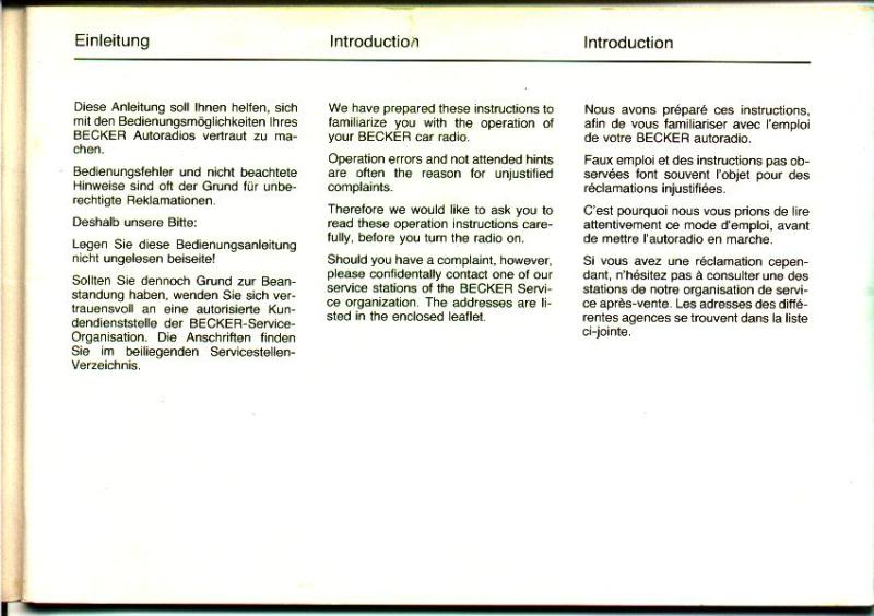 Garantia e assistência técnica rádio Becker 610 e antena elétrica Hirschmannn Manualbecker2