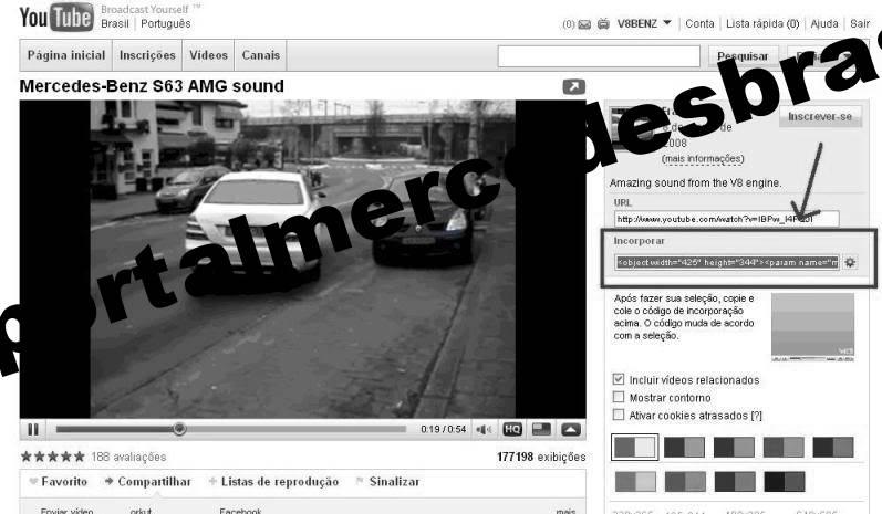 Como inserir vídeos do YouTube em suas mensagens Tela2