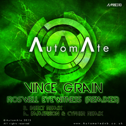 Vince Grain - Roswell Eyewitness (remixes) - Out Today on AutomAte! AM8E010-release-art-250px
