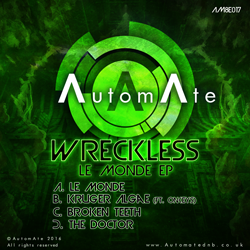 Le Monde EP from Wreckless - Out Now on AutomAte! AM8E017-release-art-250px