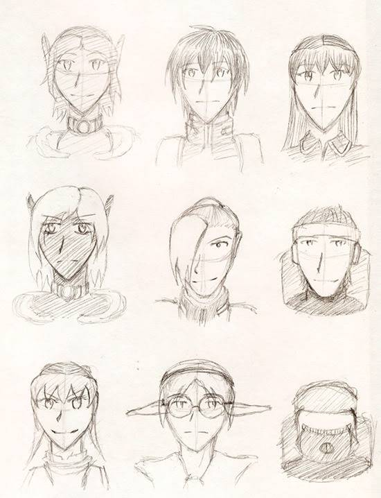 My PSO doodles Characters