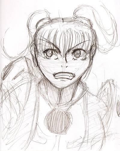 My PSO doodles Mia