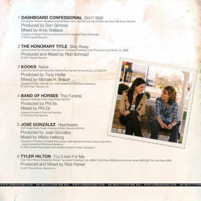 MERCHANDISE SCANS - ONE TREE HILL 003-1-1