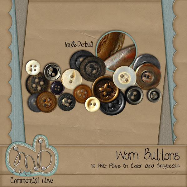 Button, Buttons.... MBscraps_WornButtons_Preview