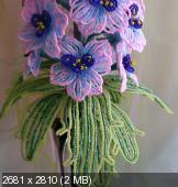 цветы из бисера D35827a966fd1d6937e6564d462bb044
