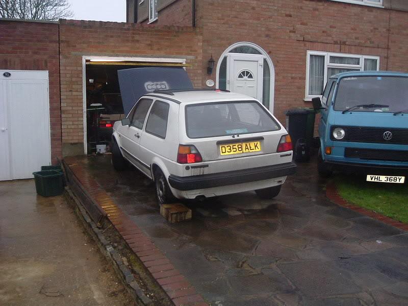 '83 Mk1 Golf Driver - Manifold back in paint... :-) DSCF2024
