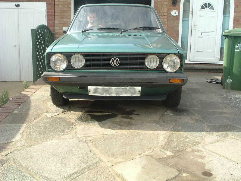 '83 Mk1 Golf Driver - Manifold back in paint... :-) DSCF2057