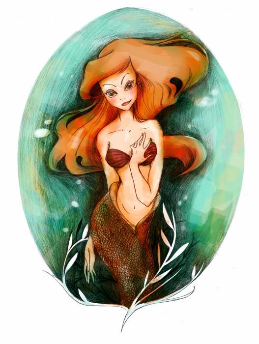 [Fan Arts] Les Fanarts de MadEye ! Raiponce Ariel_underwater_coul_petit-1