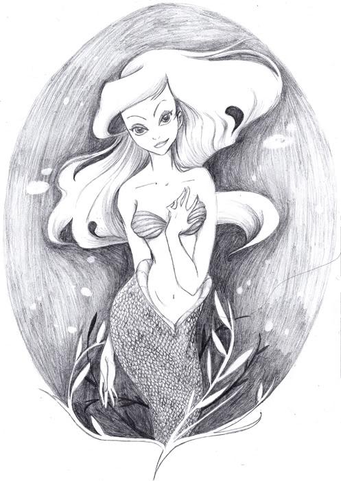 [Fan Arts] Les Fanarts de MadEye ! Raiponce Ariel_underwater_petit